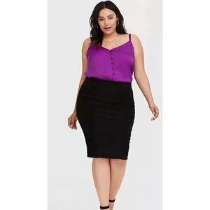 Torrid Shirred Jersey Midi Ruched Skirt